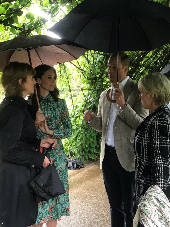 Afterwards, they met with representatives from organisations supported by Diana during the final years of her life. Duchess Kate