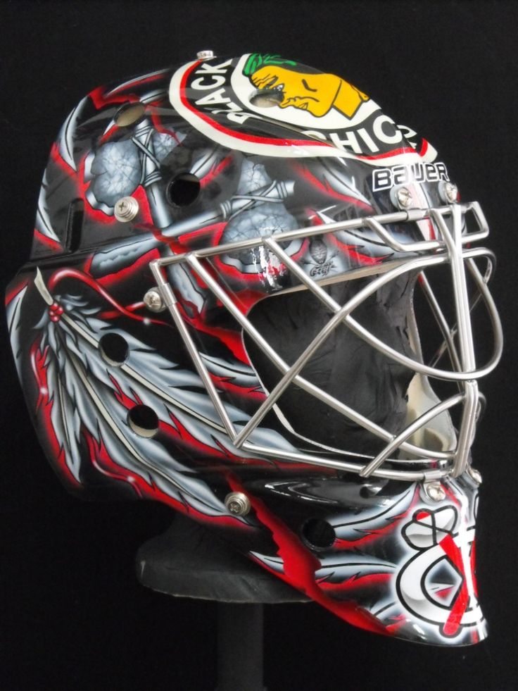 bkackhawks goalie masks | 2011-12 NHL Goalie Masks - Corey Crawford - Too Many Men on the Site ...