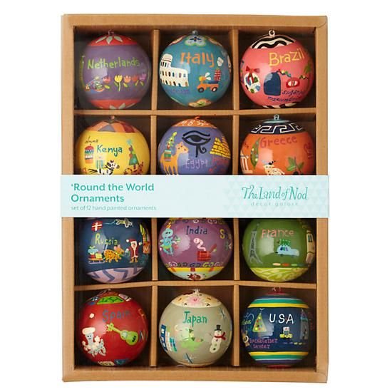 Round The World Ornaments By Jill McDonald For The Land Of