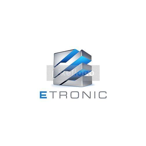 3D E Steal Box Logo - 3D E metal box, electric, etronic, server, https://pixellogo.com/collections/exclusive/products/3d-e-steal-box-logo-3d-1028