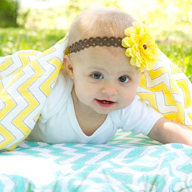 Hello Summer! Marquisette Swaddle Blanket - Chevron