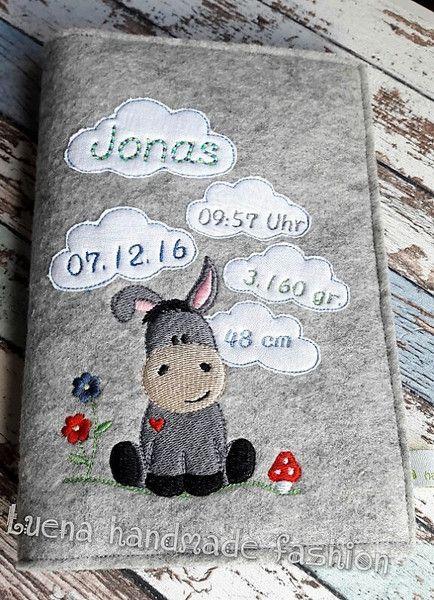 U-Hefthüllen - U Heft Hülle U-Heft-Hülle Esel individualisierbar - ein Designerstück von LUENA-handmade-fashion bei DaWanda