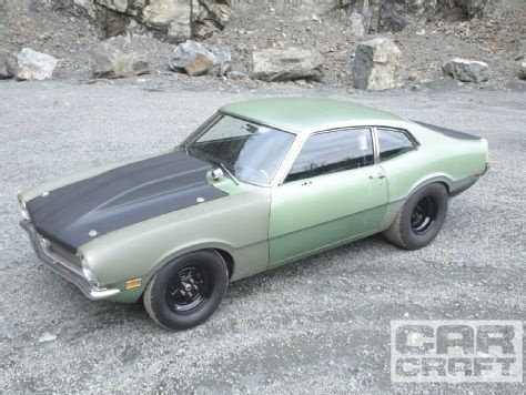 It may not look like much, but this 1971 Ford Maverick runs 10s and was built on a budget of less than $5,000