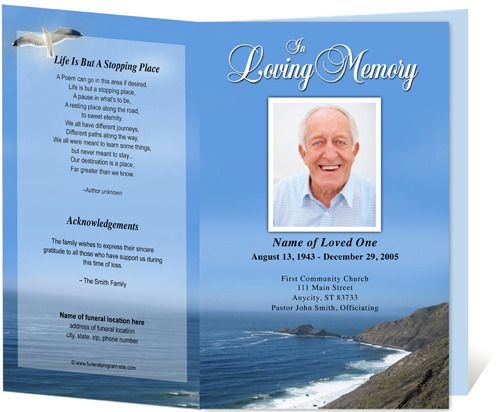 18 best Funeral Program Templates images on Pinterest Role - sample program templates
