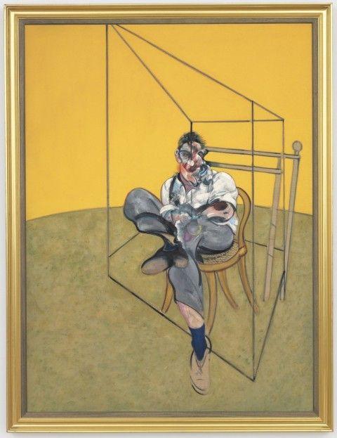 Francis Bacon - Three Studies of Lucian Freud (1969) #francisbacon #art