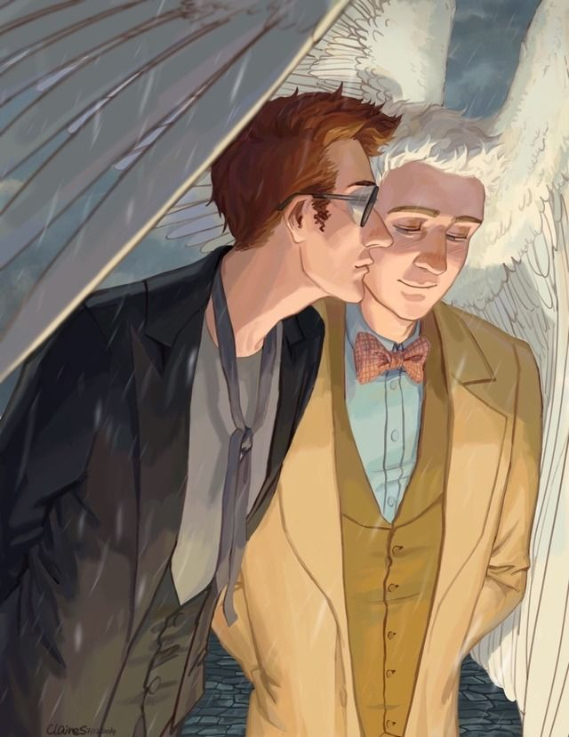 good omens ineffable husbands crowley aziraphale | Tumblr