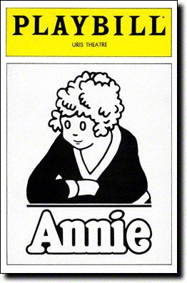 Image result for musical annie closed on broadway at the uris theater
