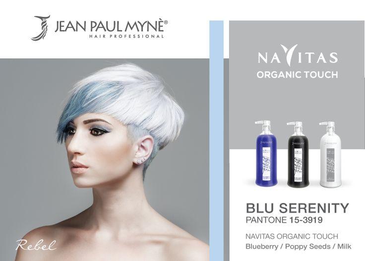 #REBEL è l'ispirazione #moda #jeanpaulmynè realizzata con i #pigmentiorganici di #Navitas #OrganicTouch. Atmosfere glaciali, ribelli, rivoluzionarie, sovversive, controcorrente, trasgressive. TAGLIO: la linea corta si sviluppa con un #taglio deciso, geometrie asimmetriche e linee definite. #COLORE: colori freddi, carattere forte, tormentato, ribelle. Rivisitazione del #biondo #platino e del #grigio abbinato all'#azzurro #Serenity realizzato con organic touch #blueberry, #poppyseed e #milk.