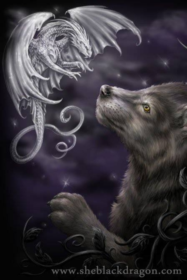 Wolf and Dragon (me, the Wolf and Phil Soliett, the Dragon) best friends for Life