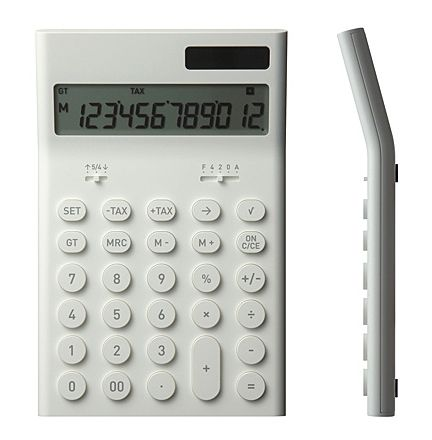 FFFFOUND! | Electronic Calculator M by Naoto Fukasawa for Plusminuszero - Free Shipping