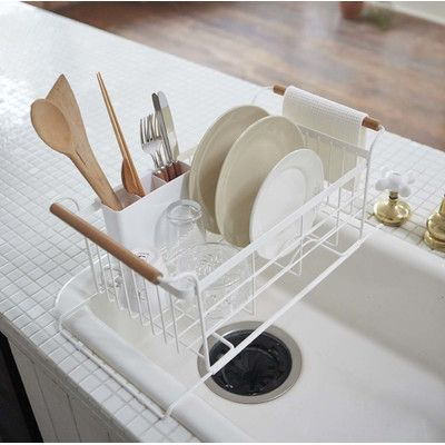 Yamazaki Usa Tosca Over The Sink Dish Drainer Rack