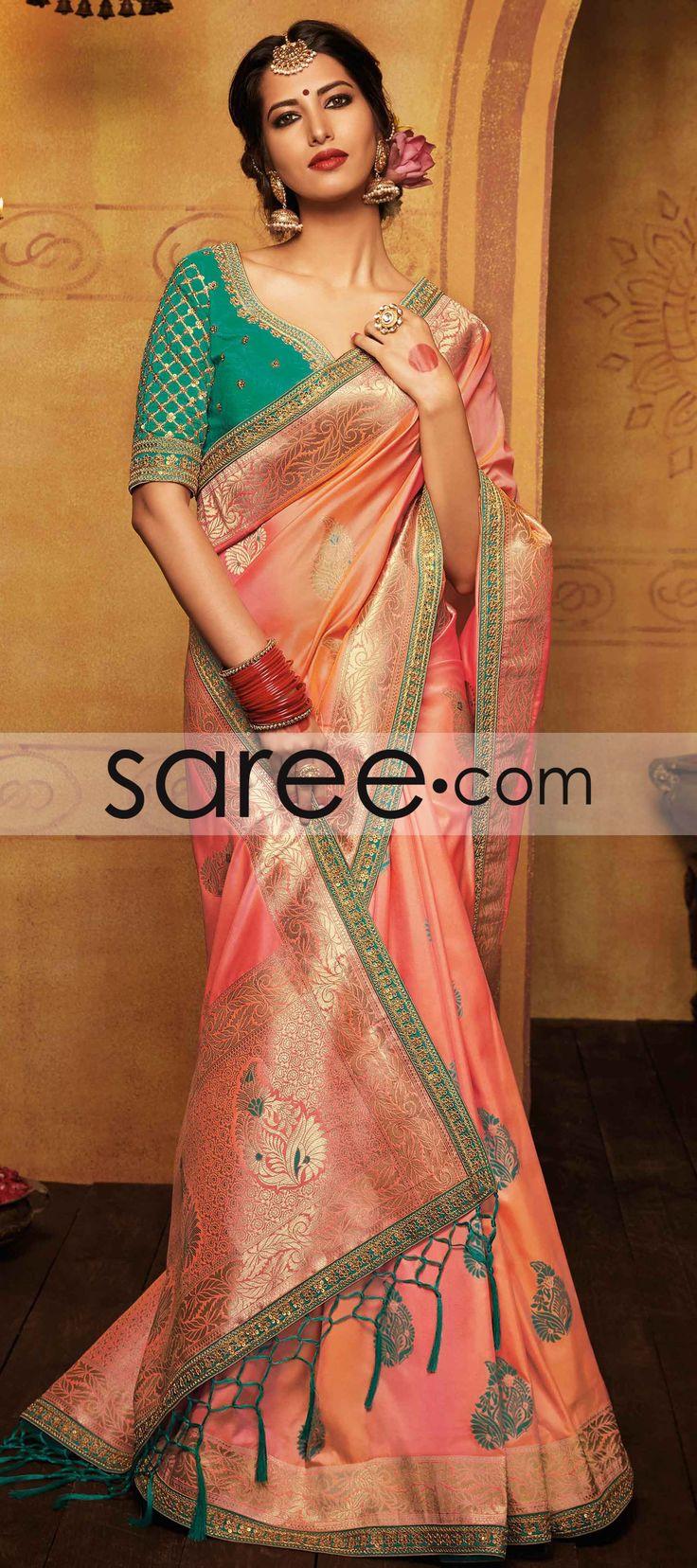 PINK SILK SAREE WITH WEAVING #Saree #GeorgetteSarees #IndianSaree #Sarees #SilkSarees #PartywearSarees #RegularwearSarees #officeWearSarees #WeddingSarees #BuyOnline #OnlieSarees #NetSarees #ChiffonSarees #DesignerSarees #SareeFashion