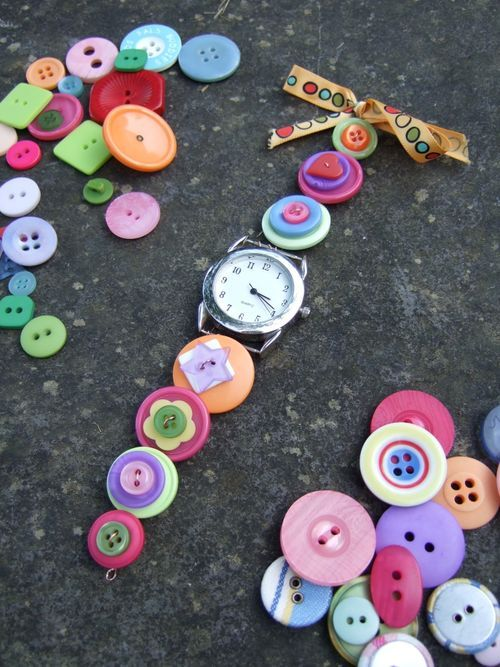 Button watchband