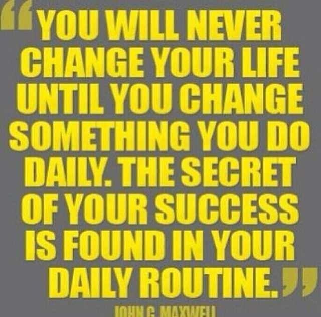 It's a lifestyle change!
