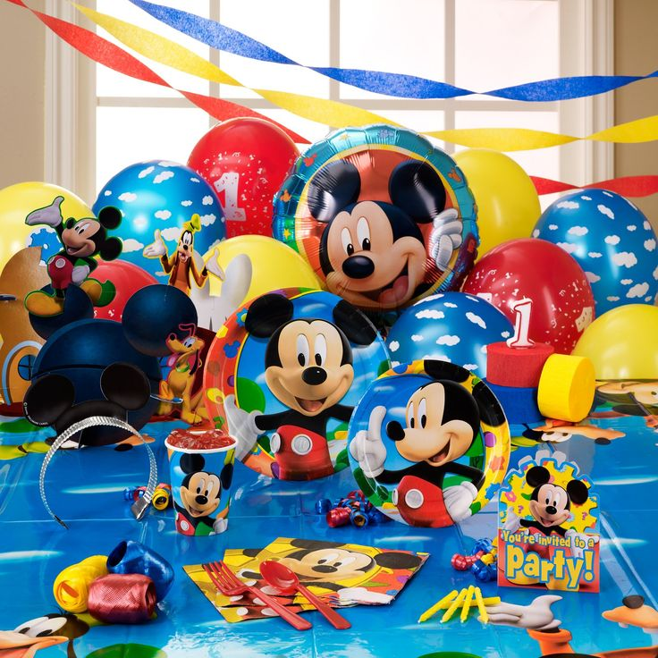 Disney Mickey Mouse Clubhouse 1st Birthday Party Supplies