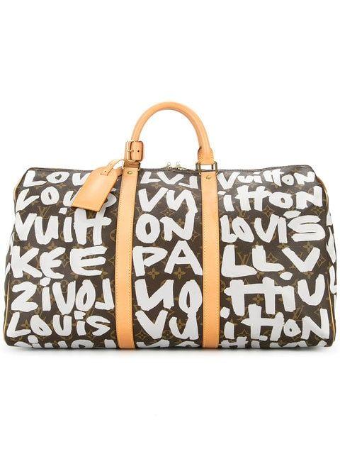 Louis Vuitton Vintage Keepall 50 Graffiti Travel Bag in 2019 ... 0d0b5bc00d4d1