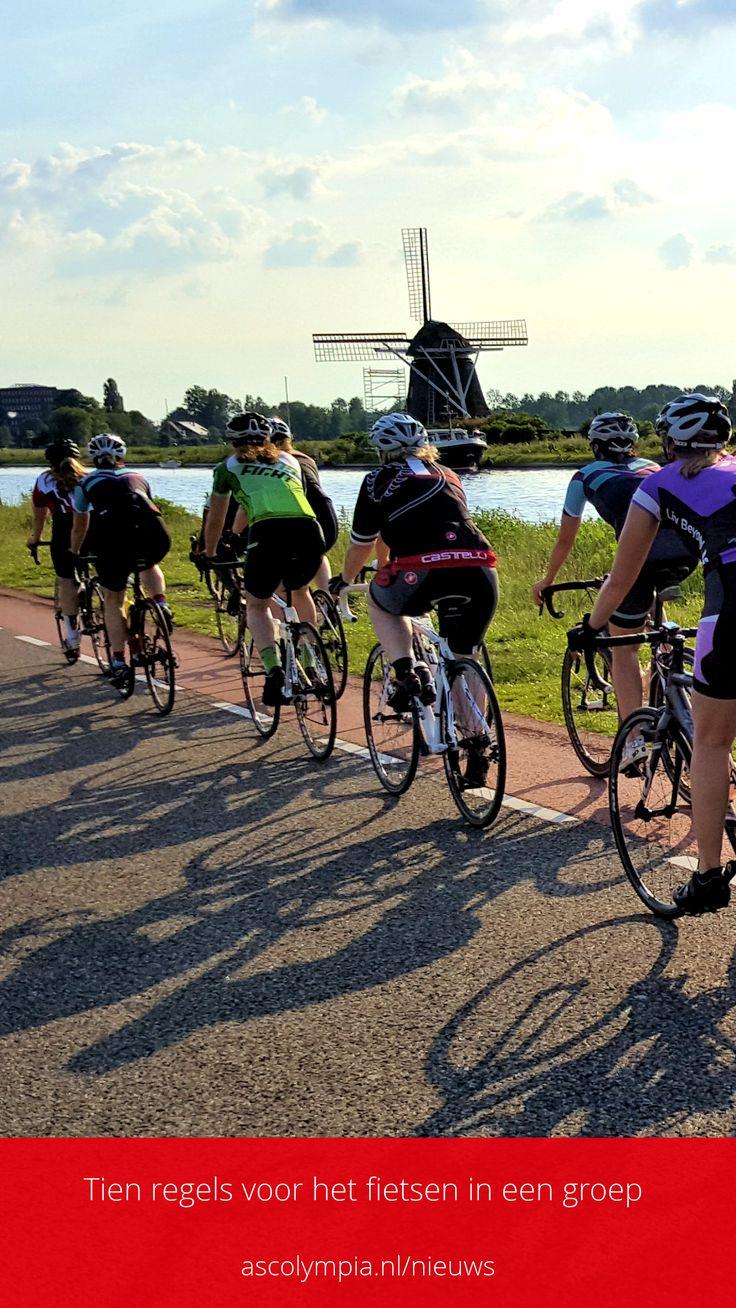 """Fietsen in een groep? Heb je nog nooit in een groep gereden en vind je dat heel spannend? Of denk je """"Ach, dat stelt toch niets voor?"""" Misschien stelt het ook niets voor, maar toch kan het fietsen in een groep, gevaren met zich meebrengen.  Kim beschreef 10 regels voor het fietsen in een groep."""