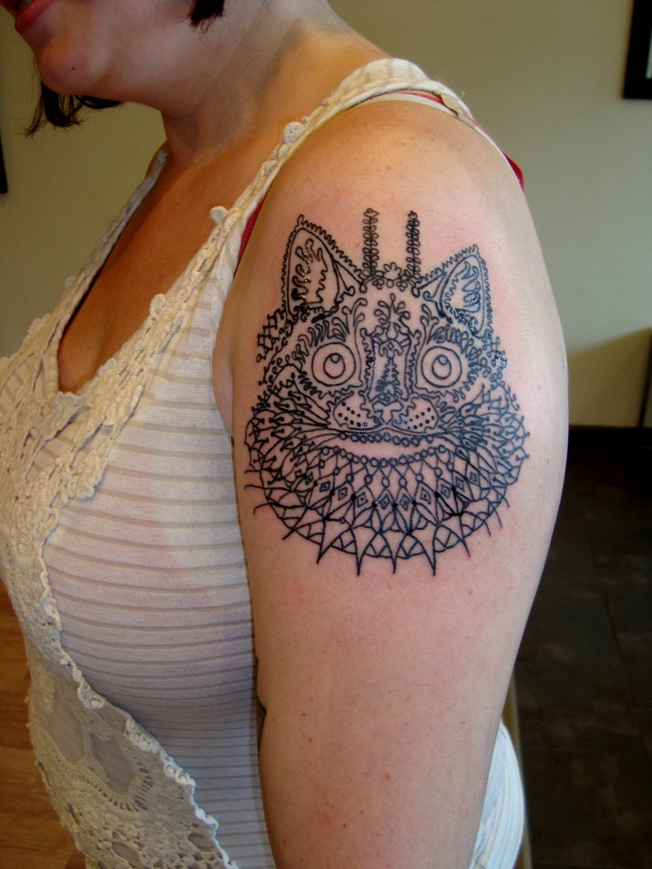 Louis wain tattoo by michelle gypsy tattoo parlor for Tattoo places in pittsburgh