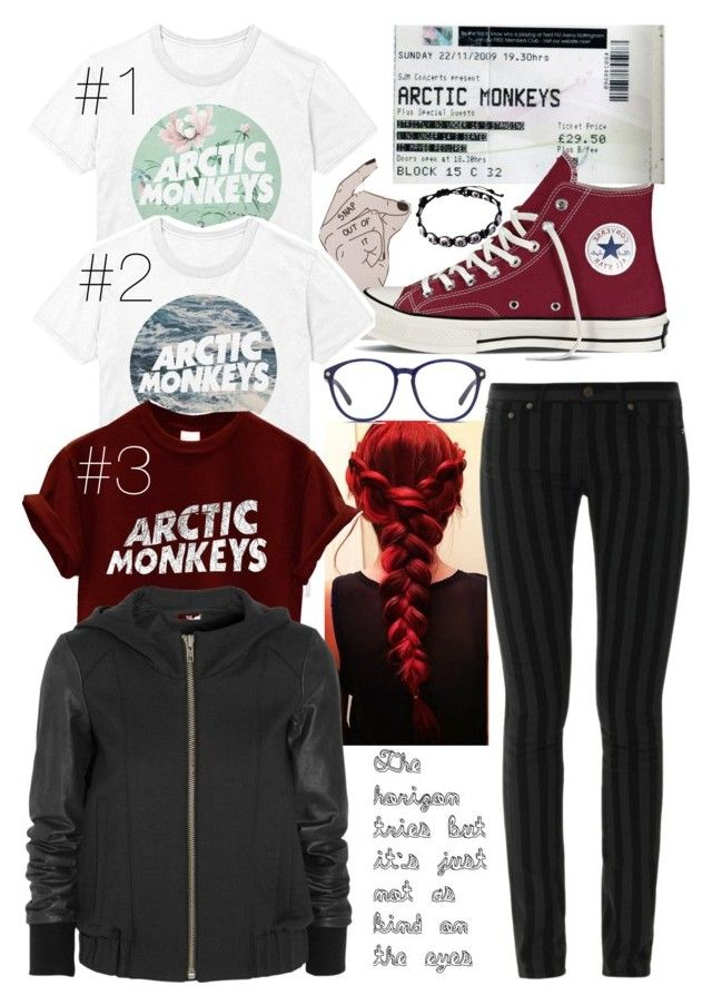 """""""which T? Comment!"""" by blom-sofie on Polyvore featuring Converse, Yves Saint Laurent, Matthew Williamson and Helmut Lang"""