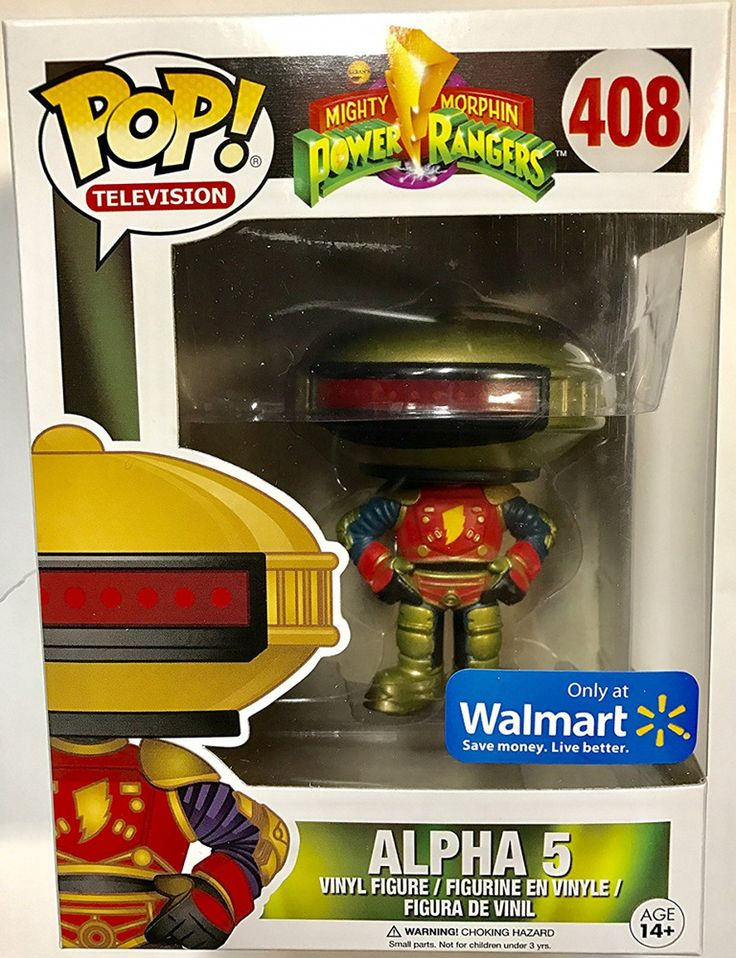 Funko Pop! Television Mighty Morphin Power Ranges ALPHA 5 Exclusive #408 #RTC
