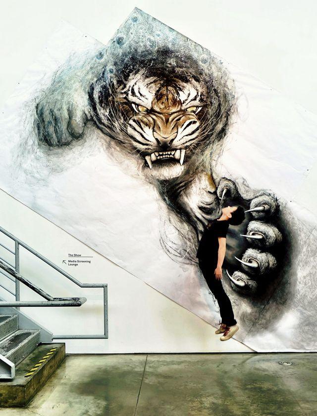 Les animaux en relief de l'artiste Fiona Tang