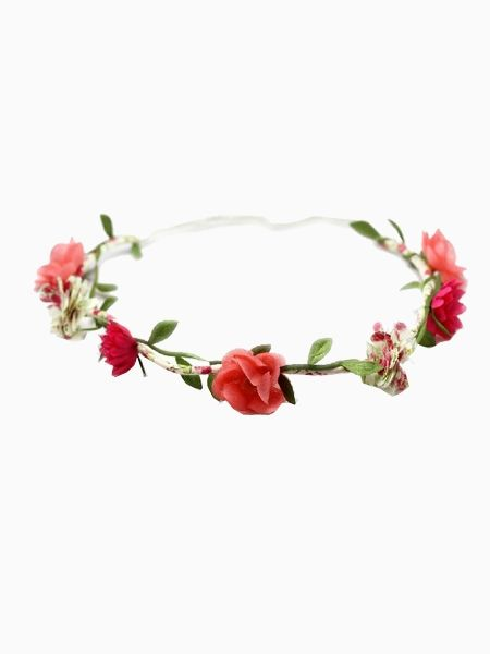 Red Flower Hair Garland
