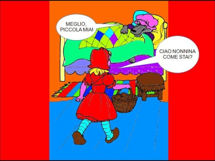 Storia a fumetti di Cappuccetto Rosso realizzata dai bimbi della classe II B della scuola primaria  A. Dasso. I disegni sono stati colorati con PaintNet e le voci registrate con Audacity