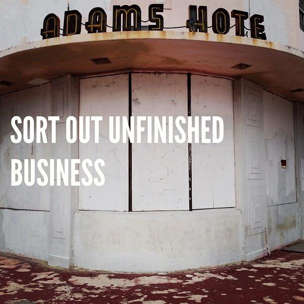 Sort out unfinished business. #takethebullbythehorns #procrastination #hotel #development #unfinished #miami #dadailydo #picoftheday by @dadailydo, via Flickr