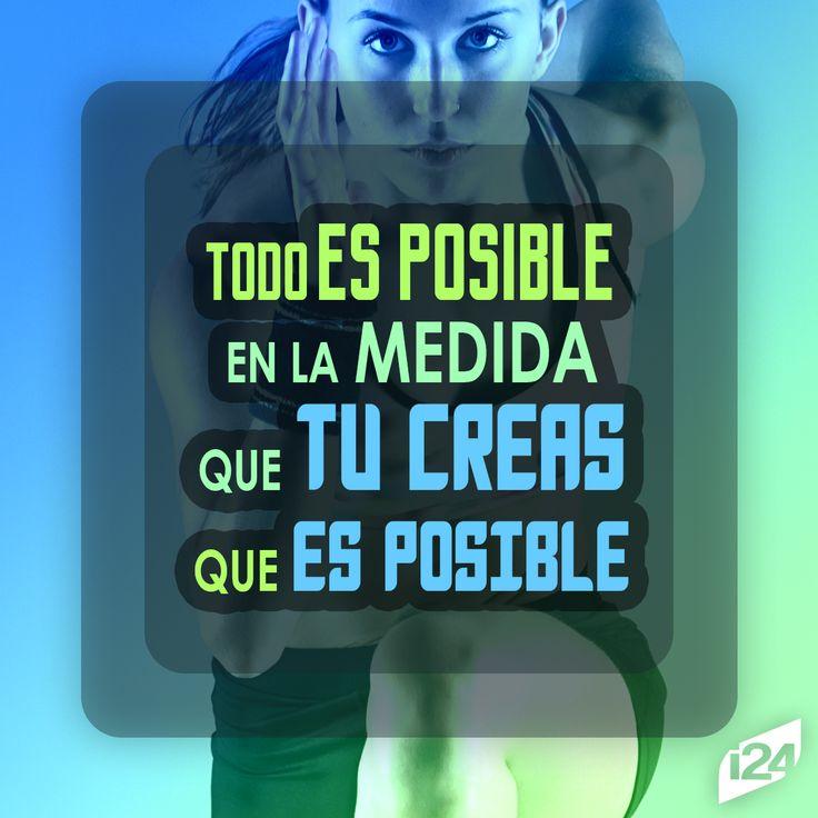 Solo tú decides que es posible #Frase #Motivación #Adelgazar