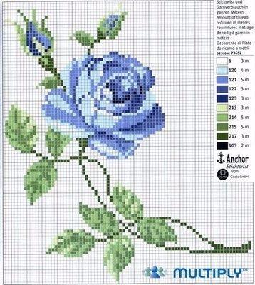 Вышиваем розы на скатерти и салфетках. Схемы (8) (358x400, 163Kb)