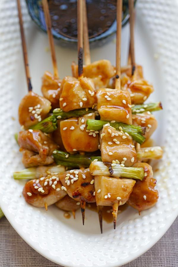 Yakitori - Yakitori is Japanese grilled chicken skewers. Learn how to make them with this easy Yakitori recipe that takes only 20 mins   rasamalaysia.com