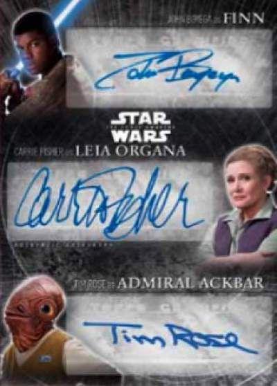 Star Wars The Force Awakens Chrome Finn Leia Akbar