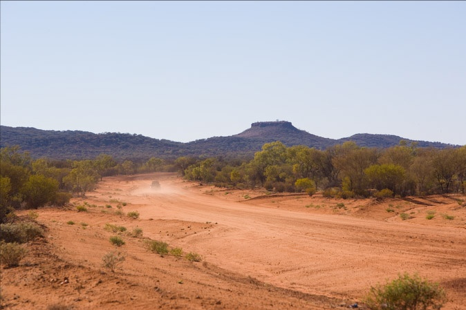 The isolated plains of Central Australia, where the most beautiful pieces of Aboriginal art is produced.