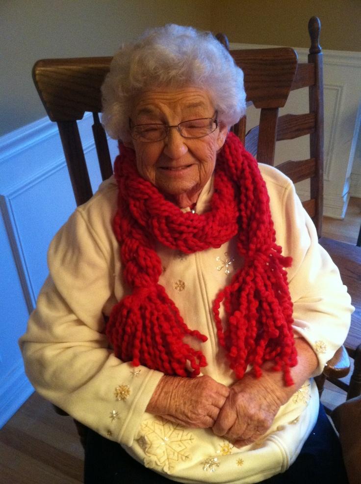 Braided Yarn Holiday Scarf Senior Crafts Pinterest