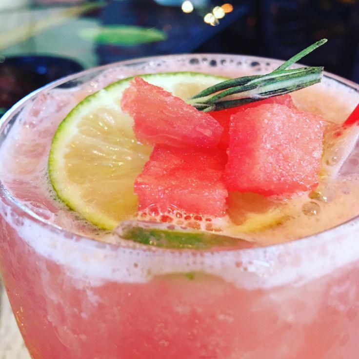 Fresh Watermelon Margarita! Tacos & Tequilla Buford GA #cocktails #drinks #HappyHour #food #sun #lunch #bar #London