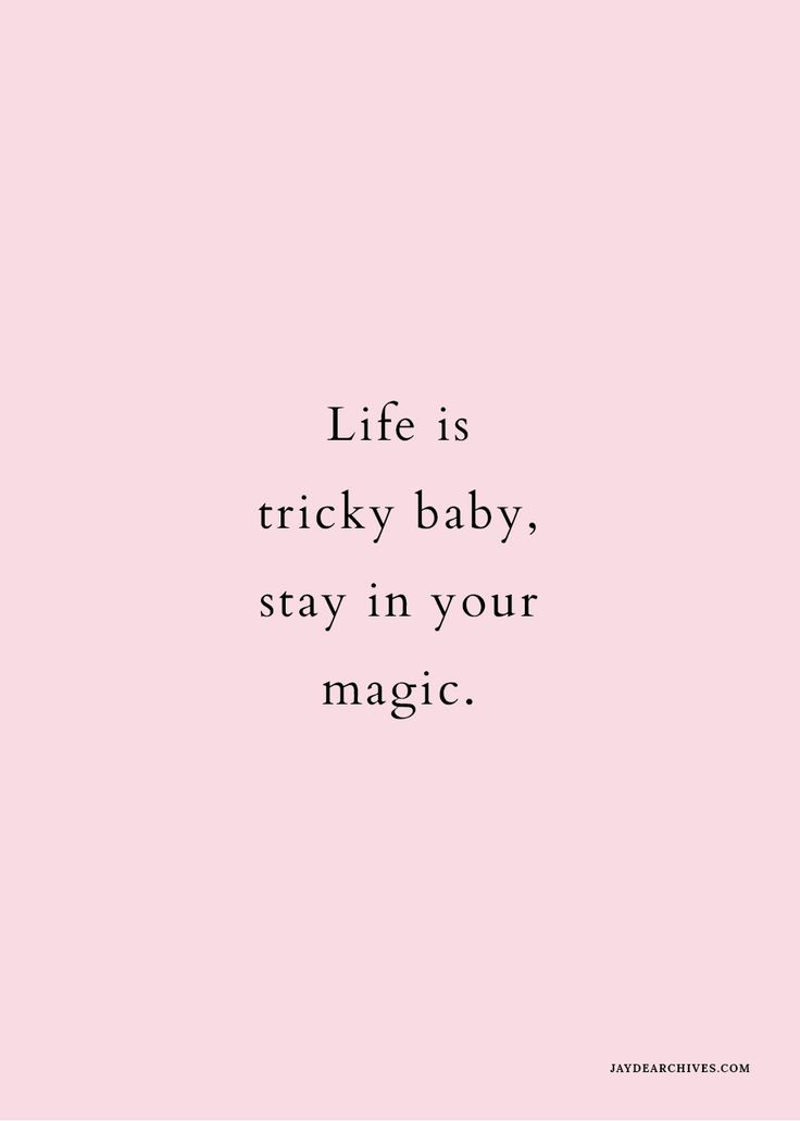 Inspirational Quote - Stay in your magic.