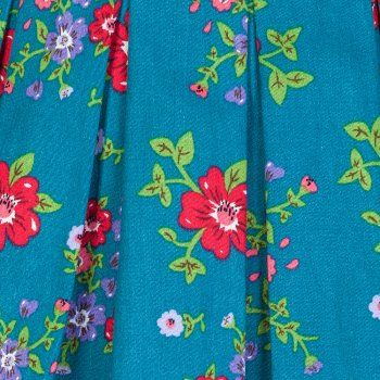 Lana Teal Floral Prom Dress | Vintage Inspired Fashion - Lindy Bop