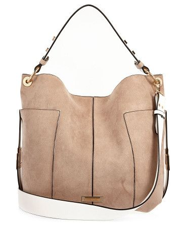 beige contrast panel slouch handbag by River Island. Contrast panelling Slouchy shape Snap fastening Shoulder straps RI branding Height 33cm, width 47cm, Handle drop 22cm...