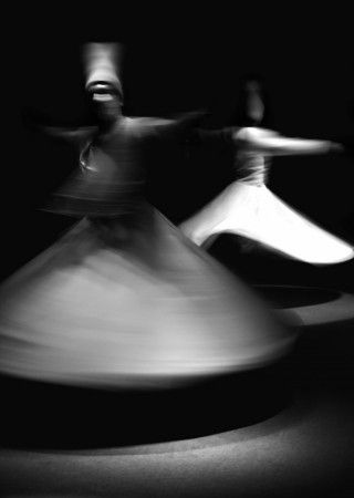 Islamic Sufi whirling dervishes