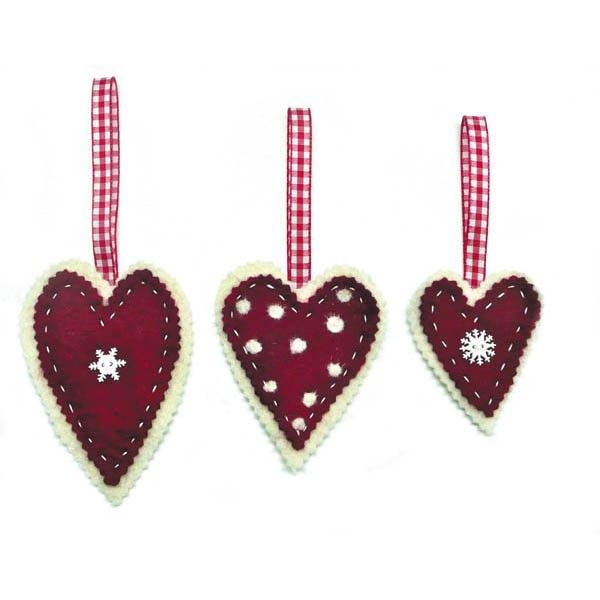 Tis the season to be fluffy, so create your own Scandinavian Chic, with these felted hanging hearts from Gilliangladrag.