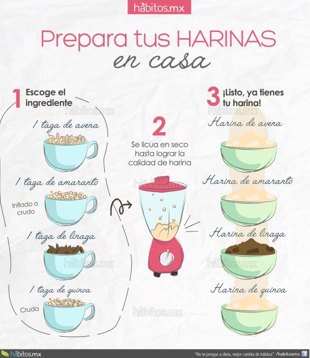 PREPARA TUS HARINAS EN CASA Más