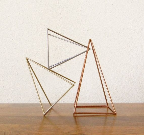 Geometric Sculptures Set of 3 Pyramids in by RagNBoneStudio