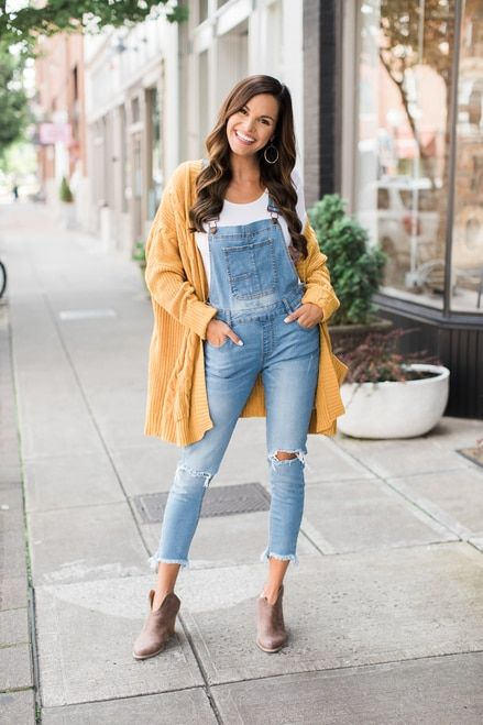 3054313ca4 Always My Favorite Distressed Overalls