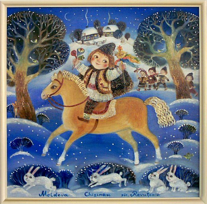 Для детей, современная русская открытка