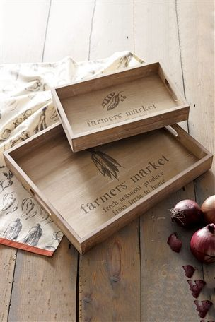 Farmers' Market Trays Set Of 2 from Next