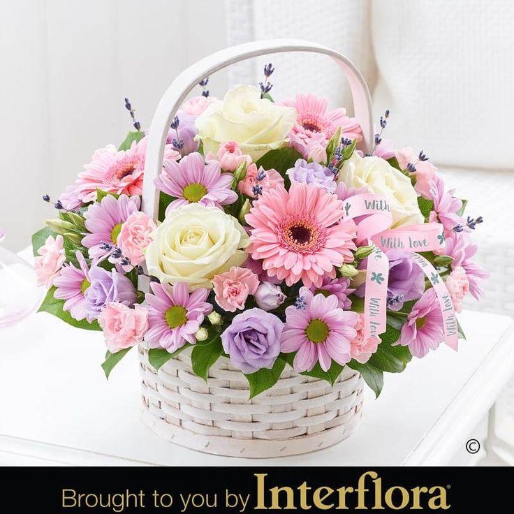 366 best flowers in basket images on Pinterest | Flower arrangements ...