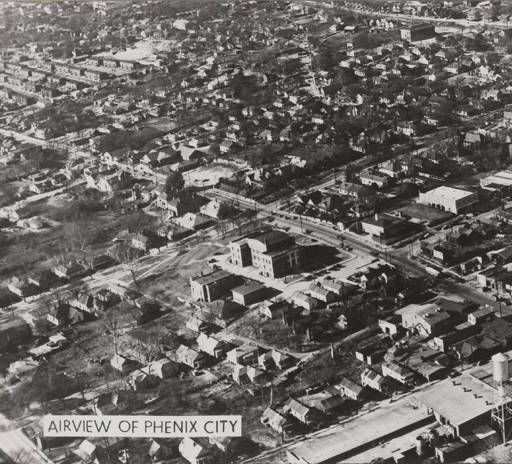 """""""Airview of Phenix City."""" :: Alabama Photographs and Pictures Collection"""