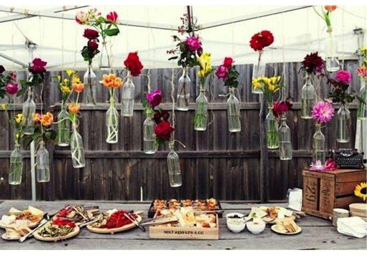 Centre de table vase haut