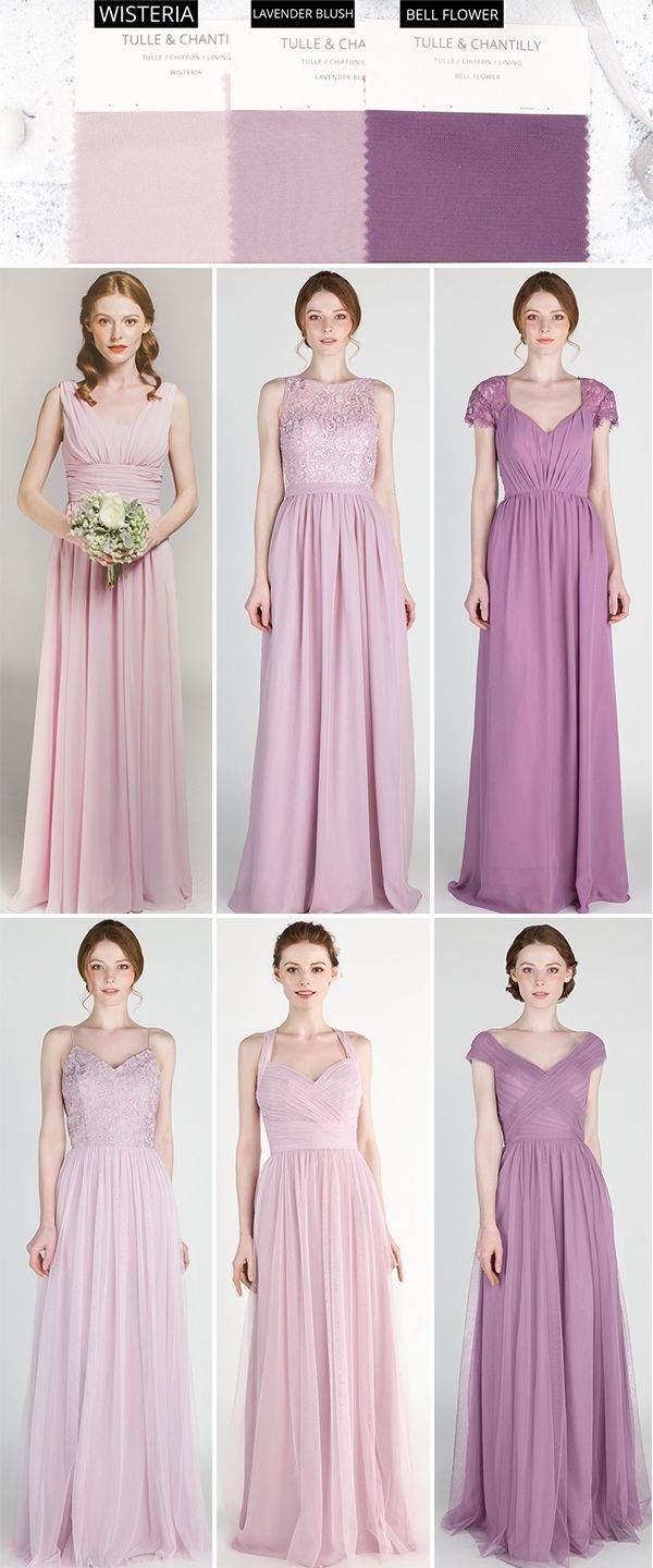 7a4fc93c575 shades of purple bridesmaid dresses for 2019  wedding  weddinginspiration   bridesmaids  bridesmaiddress  bridalparty  maidofhonor  weddingideas ...
