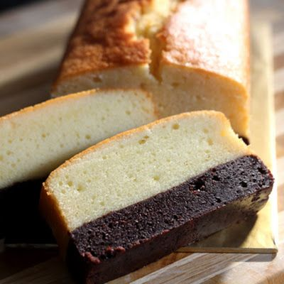 Brownie Butter Cake Recipe @keyingredient #cake #chocolate